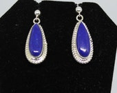 Lapis and Sterling Silver Drop Earrings