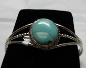 Turquoise Mtn and Sterling Silver Cuff Bracelet