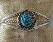 Kingman Turquoise and Sterling Silver Bracelet