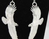 Sterling Silver Flying Eagle Earrings