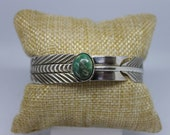 Broken Arrow Turquoise and Sterling Silver Cuff Bracelet