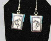 Sterling Silver and Turquoise Kokopelli Earrings