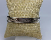 Sterling Silver 12K Gold Overlay Cuff Bracelet