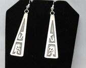 Navajo Sterling Silver Overlay Earrings