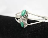 Navajo Silver and Malachite Cuff Bracelet
