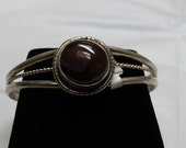 Boulder Opal and Sterling Silver Bracelet