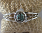 Dry Creek Turquoise and Sterling Silver Cuff Bracelet