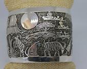 Sterling Silver Storyteller Cuff Bracelet