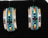 Sterling Silver Beaded Earrings