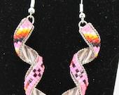 Sterling Silver Beaded Swirl Earrings