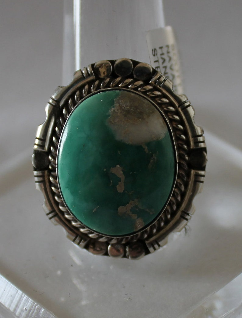 Broken Arrow Turquoise and Sterling Silver Ring 9
