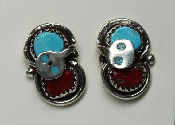 Arizona Turquoise Sterling Snake Earrings Snake Turquoise Earrings