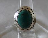 Blue Ridge Turquoise Ring Size 6 1/2