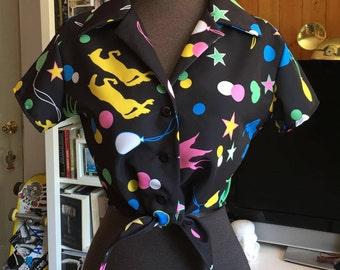 Magical Luna Button Up Tie Top