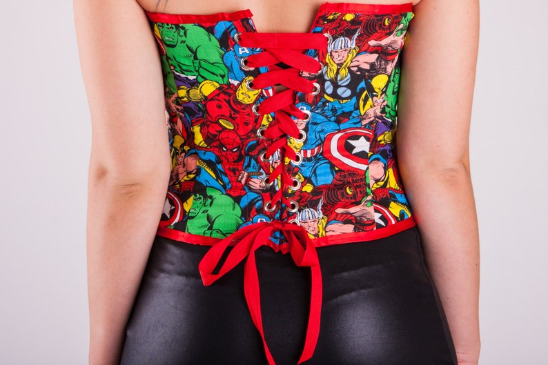 Marvel Superheros Heart Shaped Corset