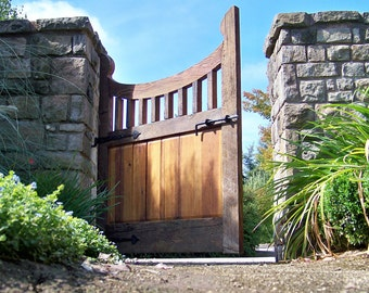 Reclaimed Wood Gate, Garden Entry, French Garden, Traditional Joinery Craftsmanship