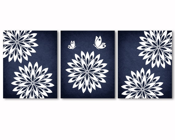 Navy Blue Wall Art Navy Blue And White Wall Decor Abstract Etsy,Simple South Indian Baby Shower Decorations