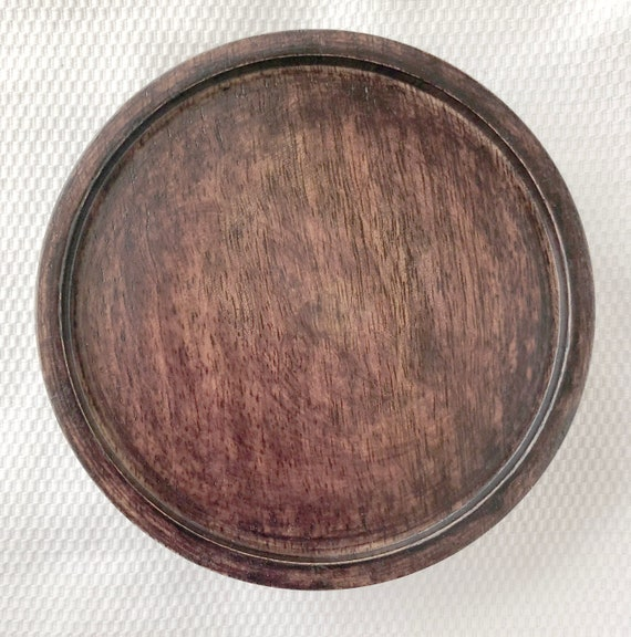 "6.5/"" Inner Diameter 8/"" OD Chinese Oriental Wooden Lid Or Stand Ginger Jar Vases"