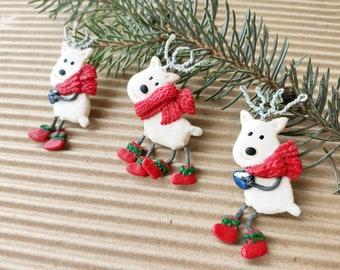 Christmas brooch Santa Reindeer Santa's deer Rudolph Funny Christmas accessory