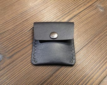 Leather coin purse - small