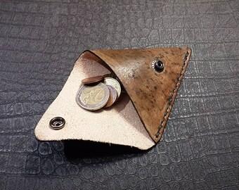 Triangle coin purse (Unique texture)