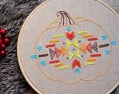 Hand Embroidery pattern • PDF • Pumpkin • Thanksgiving decor • NaiveNeedle