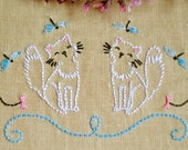 Hand Embroidery pattern • PDF • Cats •  NaiveNeedle