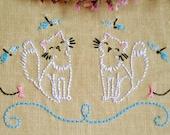 Kitty Hand Embroidery pattern • PDF • Cats •  NaiveNeedle