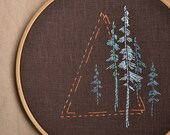 Hand embroidery patterns • PDF • Pacific Northwest • Forest • Nature embroidery •  Camping gift • NaiveNeedle