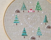 Embroidery pattern • Hand embroidery patterns • PDF • Christmas trees • Instant Download • Winter forest • NaiveNeedle
