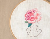 Rose flower Hand embroidery hoop art • Embroidery pattern • PDF • Instant Download • Flower head • NaiveNeedle