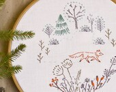Fox embroidery • Embroidery pattern •  PDF • Woodland animals • Hand embroidery • NaiveNeedle