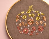 Floral pumpkin • Hand embroidery pattern in PDF file • Simple hand embroidery design • Diy hand embroidery • Fall décor  • NaiveNeedle