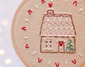 Hand embroidery patterns • PDF • Holiday decor • Gingerbread house • NaiveNeedle