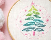 Hand embroidery pattern • PDF • Christmas tree embroidery • NaiveNeedle