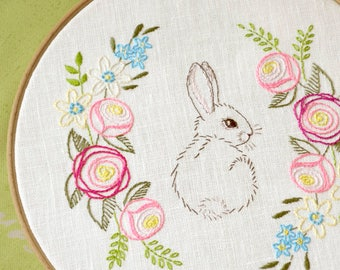 Easter embroidery, hand embroidery patterns, easter bunny, Digital download, Embroidery designs by NaiveNeedle