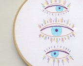 Modern hand embroidery patterns • PDF • Instant Download • Evil eye • NaiveNeedle