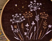 Hand embroidery pattern • PDF • Dandelion Embroidery • Night Wildflowers • NaiveNeedle