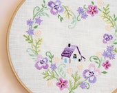 Hand embroidery patterns • PDF • Floral embroidery • Home sweet home • NaiveNeedle