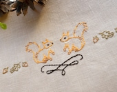 Hand embroidery pattern • PDF • Squirrel • NaiveNeedle