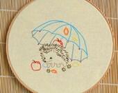 Embroidery pattern beginner level • PDF  • Hedgehog • DIY • NaiveNeedle