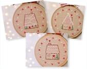 Christmas hand embroidery patterns • PDF • Set of 3 DIY Christmas ornaments • NaiveNeedle