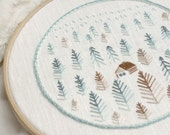 Winter landscape Hand embroidery patterns • PDF • Foggy forest • Beginner embroidery • NaiveNeedle