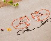 Embroidery Pattern • PDF • Fox decor • NaiveNeedle