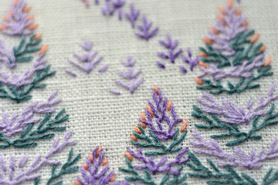 Mountain Forest Embroidery Pattern Pdf Landscape Hand Etsy