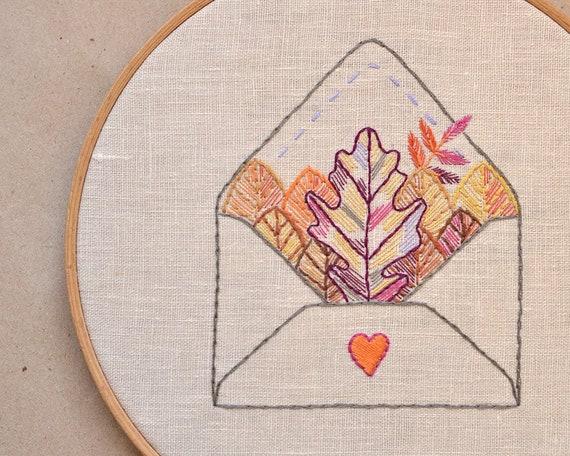 Embroidery Pattern Pdf Autumn Leaves Naiveneedle