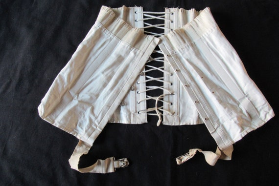 1910's cotton corset stays suspenders vintage ling