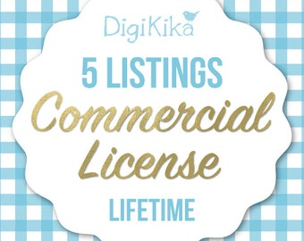 Commercial License - 5 Listings - No Attribution Commercial Use