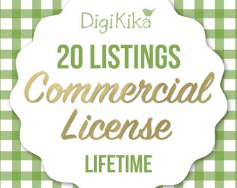 Commercial License - 20 Listings - No Attribution Commercial Use