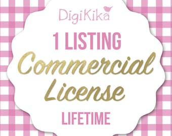 Commercial License - 1 Listing - No Attribution Commercial Use